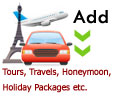 Add Tours, Travel, Honeymoon Package